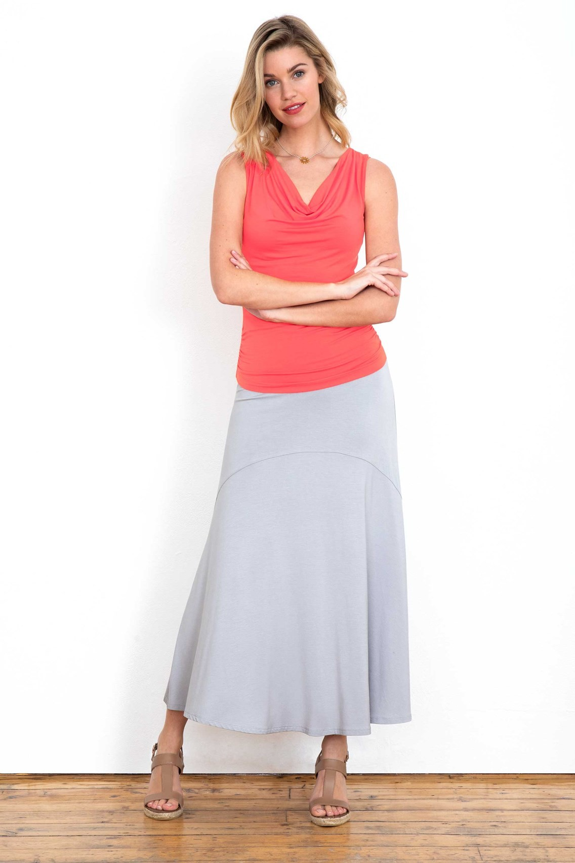 4940b8cacf Grey Jersey Maxi Skirt – DACC