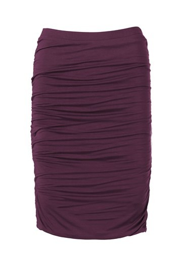 Knee Length Ruched Skirt