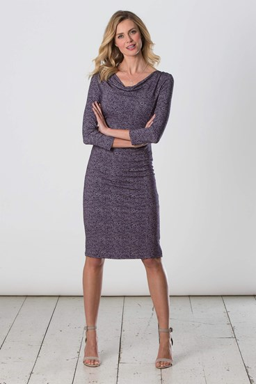 Mosaic Cowl Dress