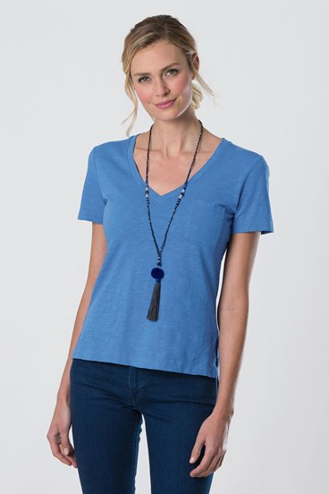Pocket V Neck
