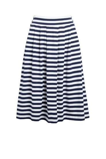 Pleat Stripe Skirt
