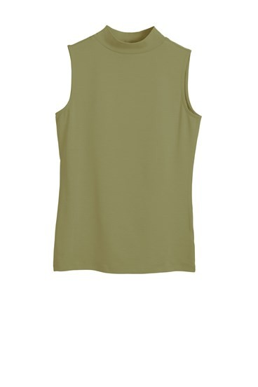Sleeveless Mock Turtle