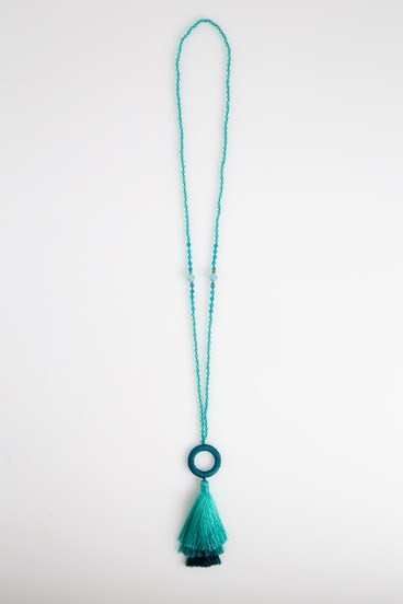 Hoop Tassel Necklace