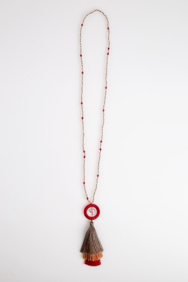 Hoop Tassel Necklace