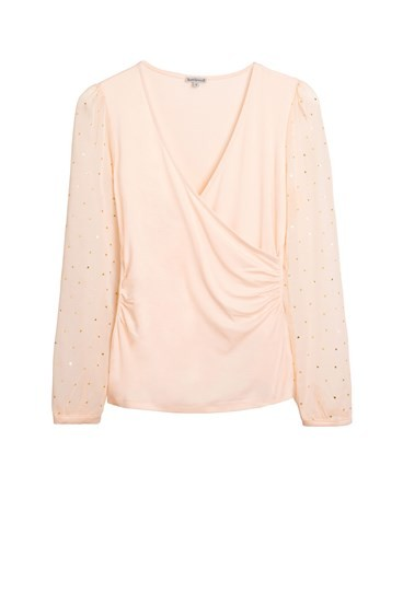 Chiffon Faux Wrap Top