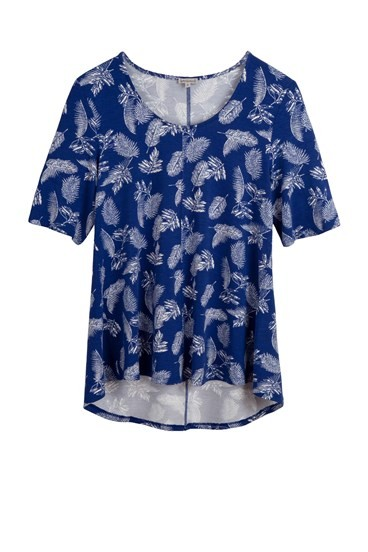 Feather Print Top
