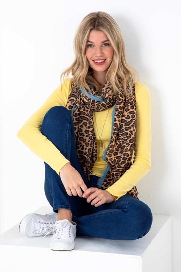 Lana Leopard Scarf