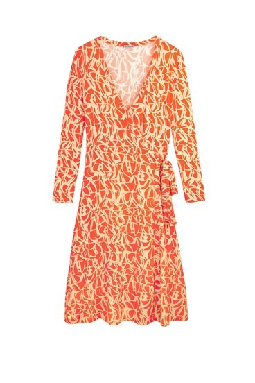 Vine Print Wrap Dress