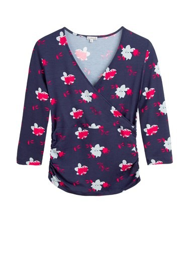 Floral Print Ruched Crossover