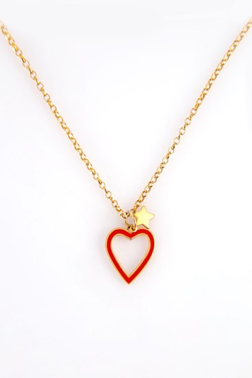Heart Necklace Red