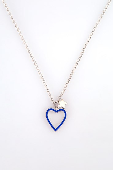 Heart Necklace Periwinkle