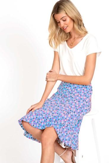 Confetti Faux Wrap Skirt