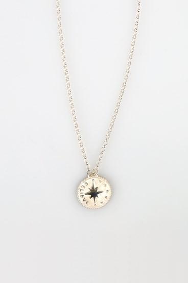 Believe Penny Necklace Silver