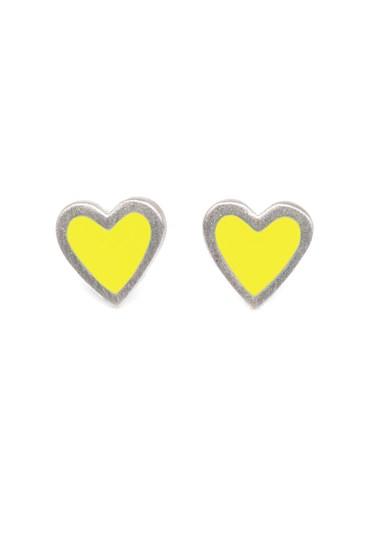 Heart Earrings Silver