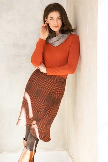 Millie Check Skirt