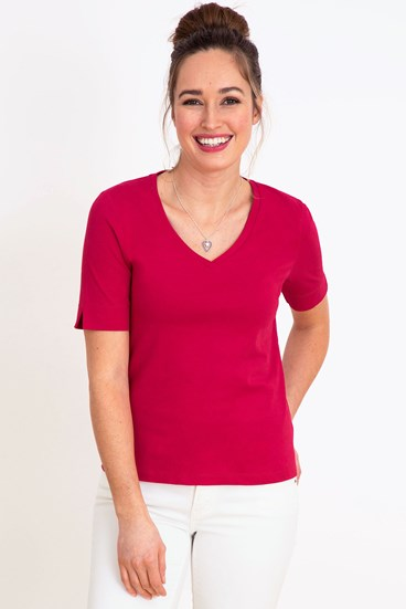 Romantic Cotton V Neck