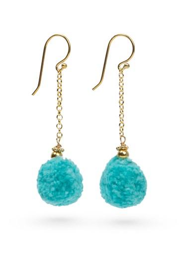 Pom Pom Earrings Gold
