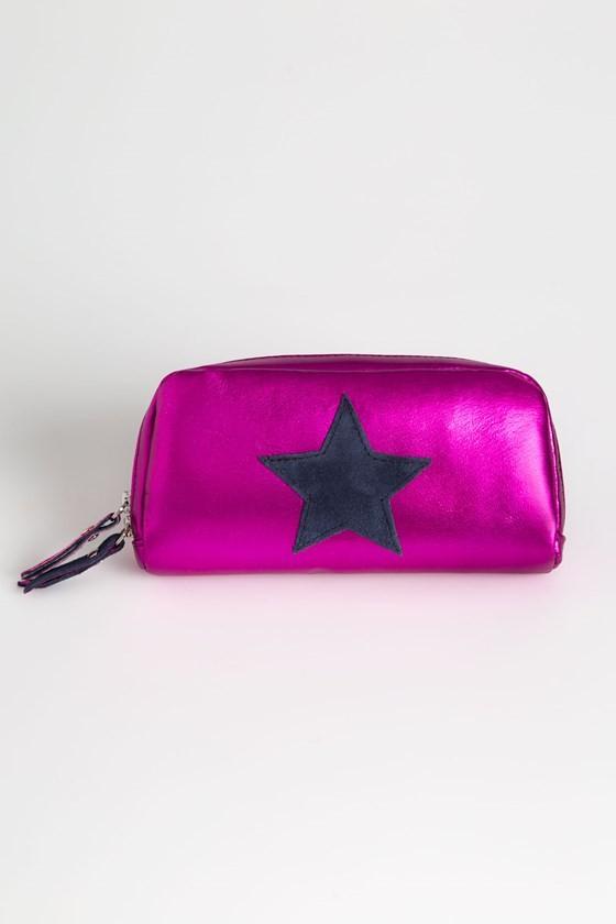 Leather Star Make Up Bag