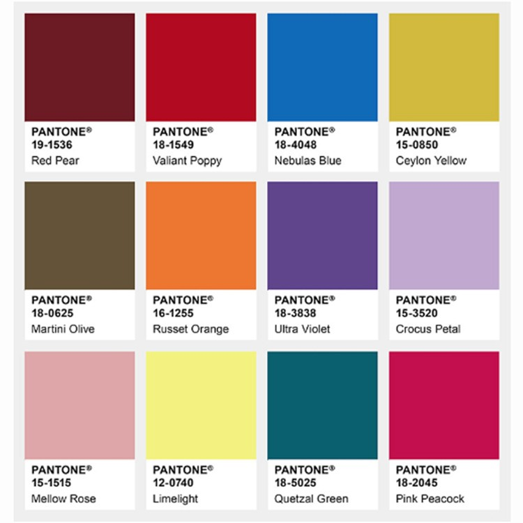 pantone colour trends aw18