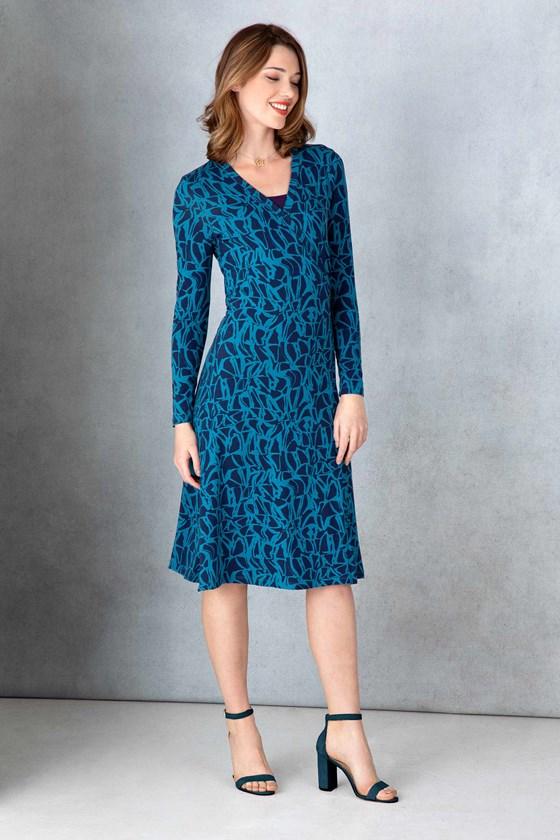 Vine Print Wrap Dress