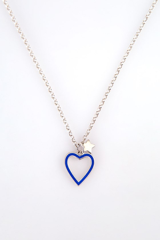 Heart Necklace Silver Chain