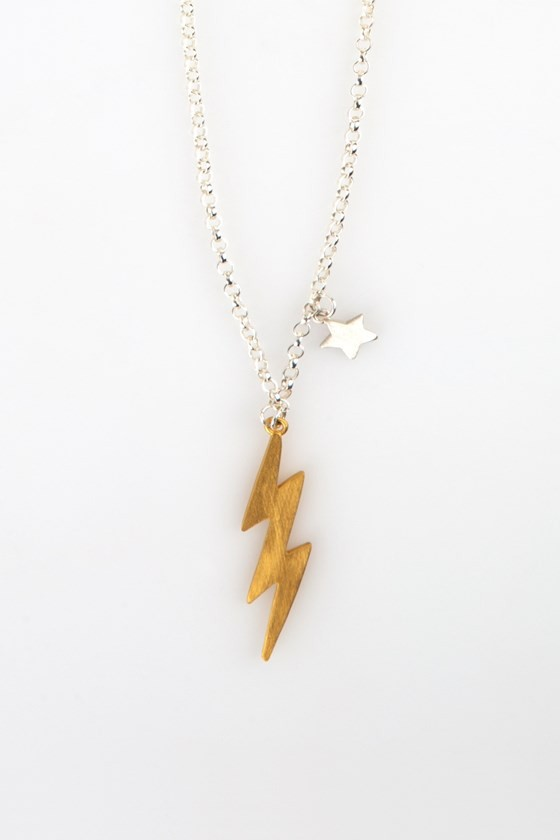 Bolt Necklace Gold