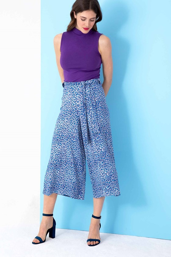 Leopard Jersey Culottes
