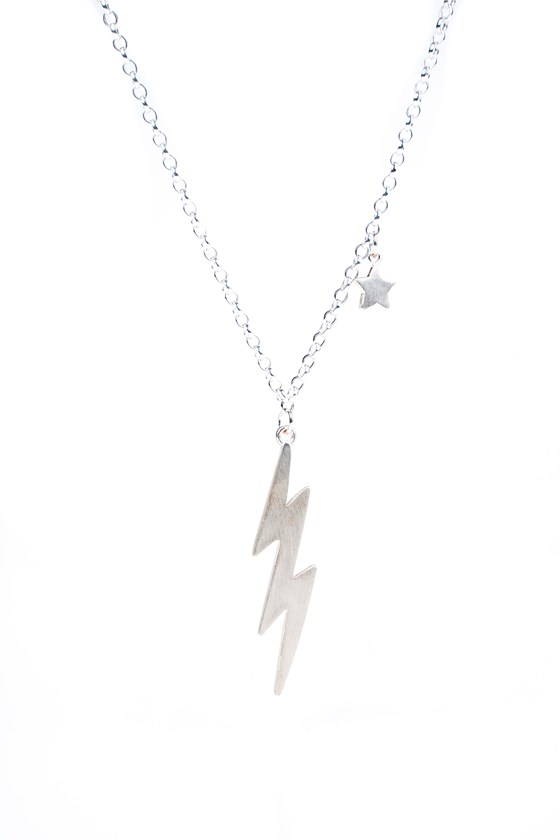 Bolt Necklace Silver