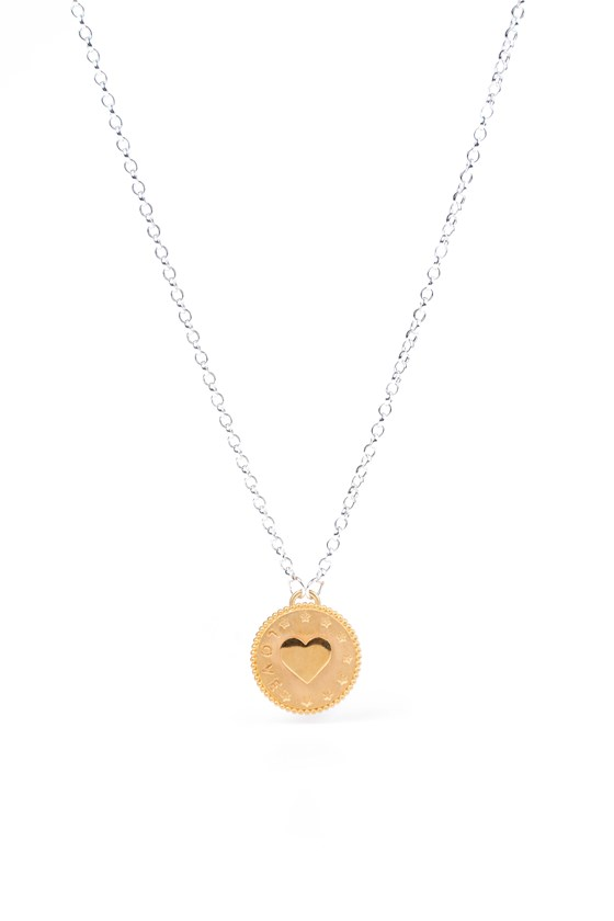 Love Penny Necklace Gold