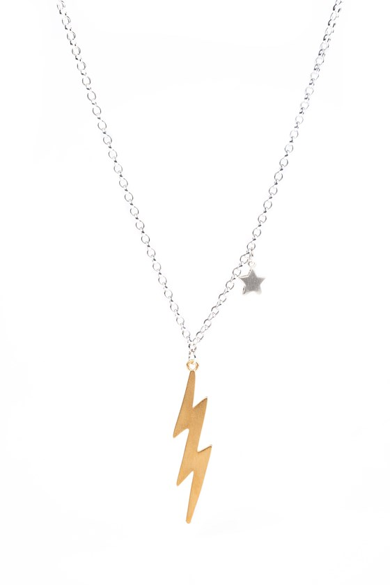 Bolt Necklace Gold