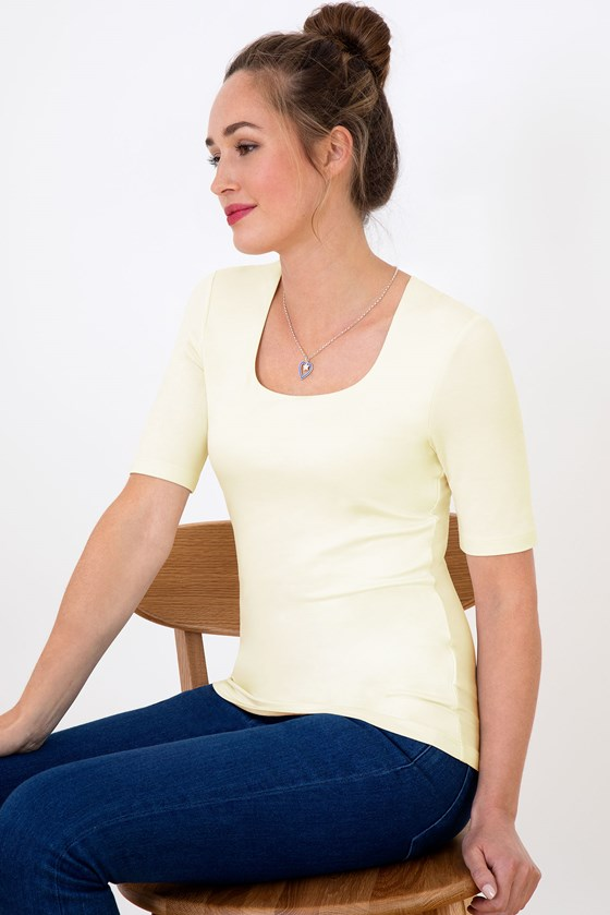 Square Neck 1/2 Sleeve