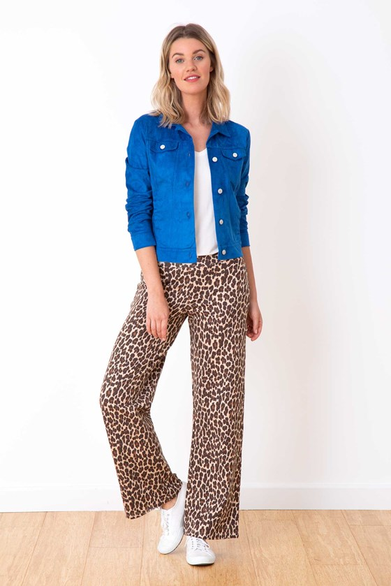 Leopard Ponte Trousers