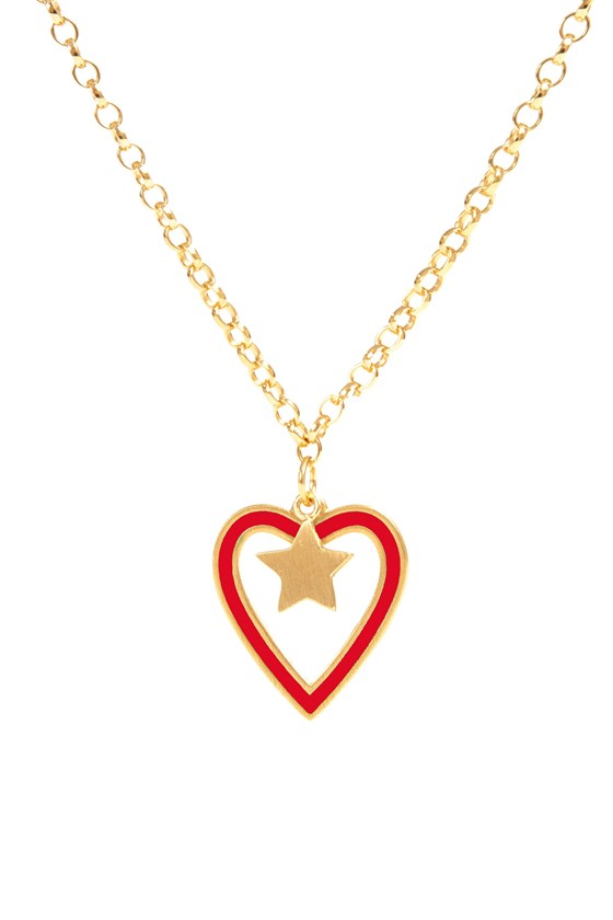 Heart Necklace Gold Chain