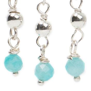Blue Amazonite & Silver
