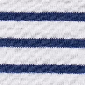 White & Bright Navy