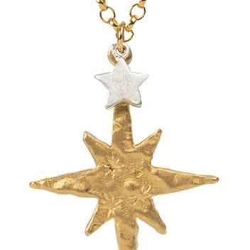 Gold Star & Gold Chain