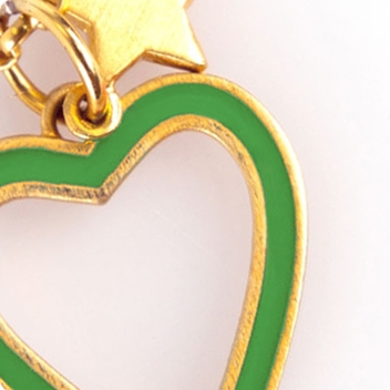 Leaf Heart & Gold Chain