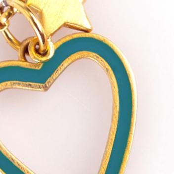 Kingfisher Heart & Gold Chain