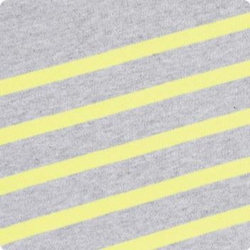 Light Grey Marl & Acid Yellow
