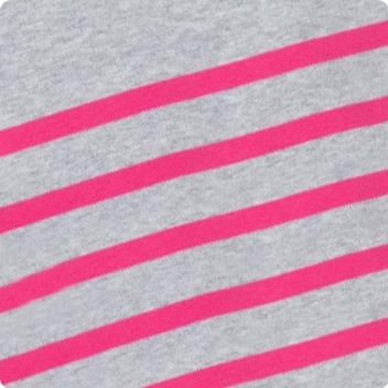 Light Grey Marl & Hot Pink