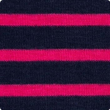 Navy & Hot Pink Stripe