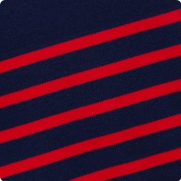 Navy & True Red stripe