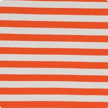 Orange & Pebble Narrow Stripe