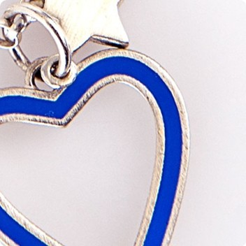 Periwinkle Heart & Silver Chain