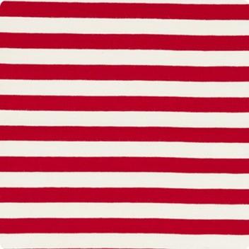 Red & Soft White Narrow Stripe