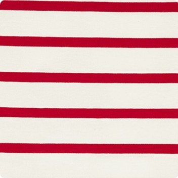 Red & Soft White Stripe