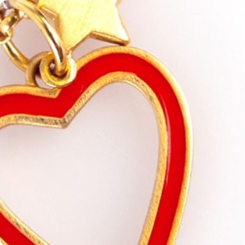 Red Heart & Gold Chain