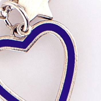 Indigo Heart & Silver Chain